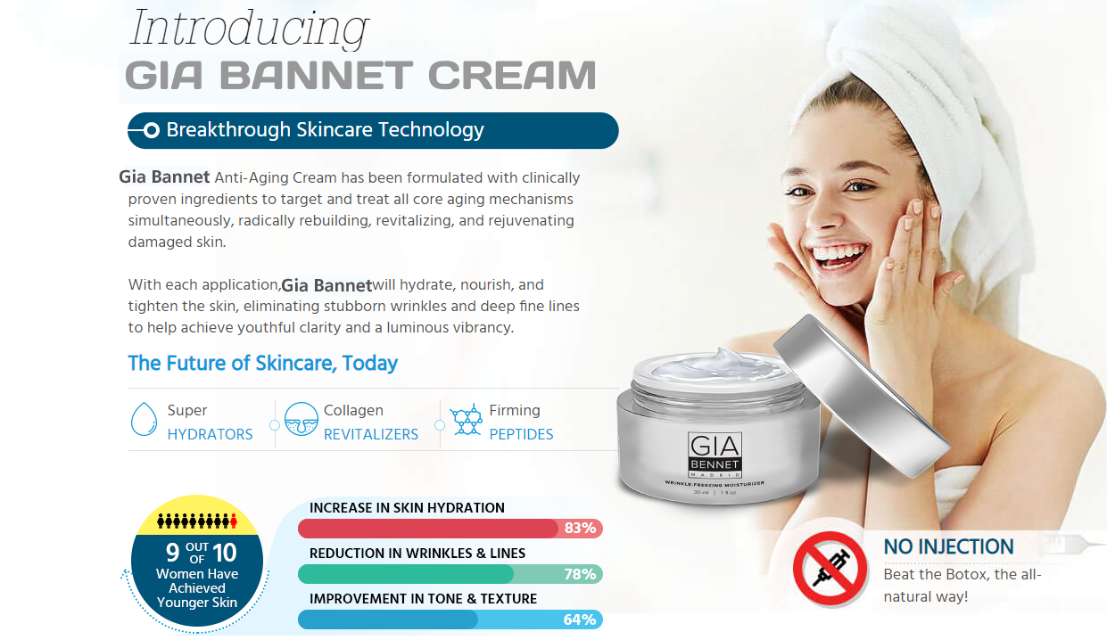 Gia Bennet Moisturizer Aging Skin care To Look Younger || Honest review