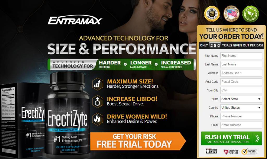 ERECTIZYTE Enhanced Perfomance & Size || ERECTIZYTE Pills Reviews