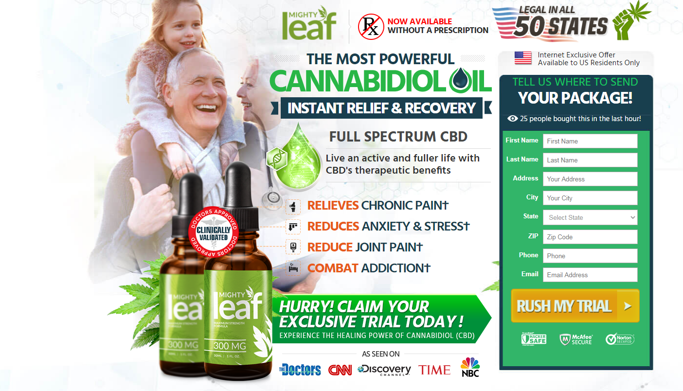 Mighty Leaf CBD Oil Reviews ® [Modify 2020] 8 You Thing About Now!