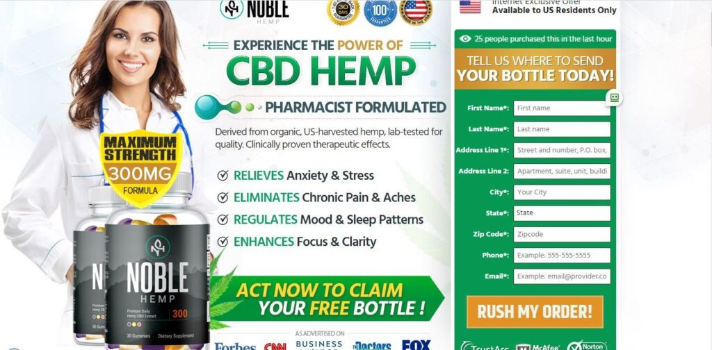 Noble CBD Gummies® (ACTIVE 2020) Deos Its Really Works?
