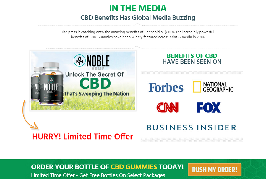 Noble CBD Gummies ® (ACTIVE 2020) Deos Its Really Works?