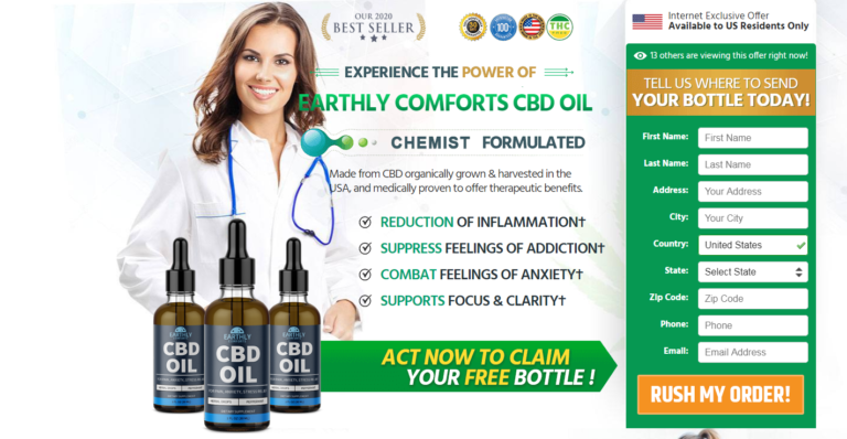 Earthly Comforts CBD Oil *Active 2020* Reduce Your Stress in Few Days!