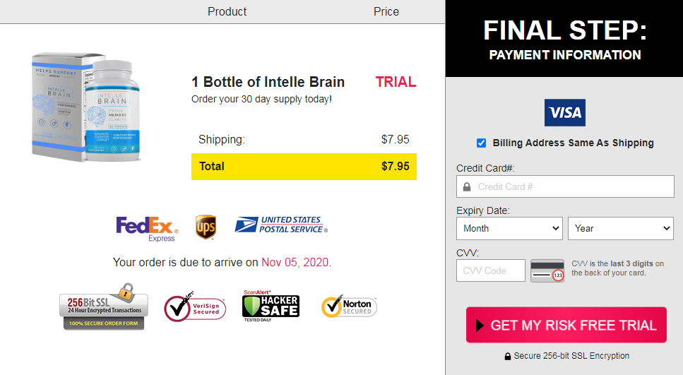Intelle Brain Pills Supplement ® {ACTIVE 2020} Does Its Really Works?