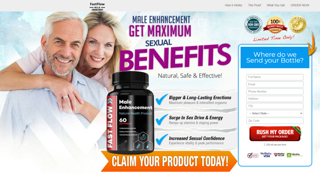 Fast Flow Male Enhancement ® {8 Truth About Fast Flow} Price, Reviews?