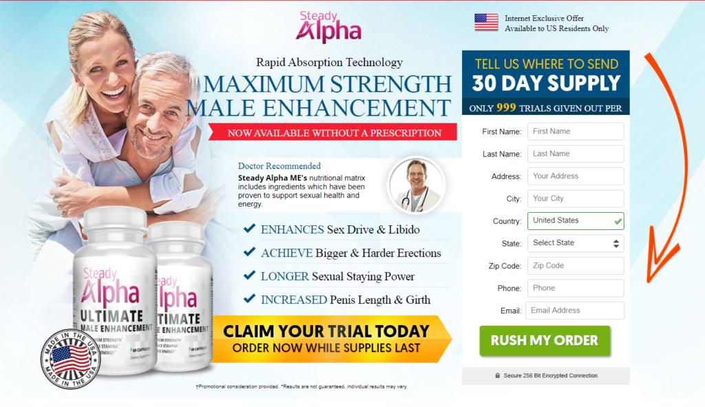 Steady Alpha Male Enhancement® (UPDATE 2020) Ingredients, Trial Pills