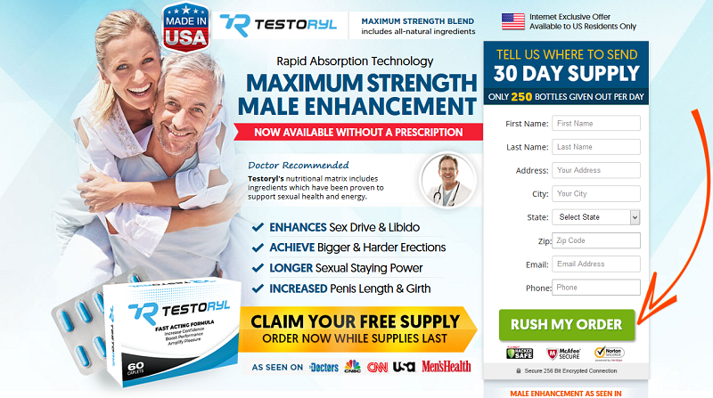 Testoryl Male Enhancement Support *Modify 2020* Price, Scam, Reviews?