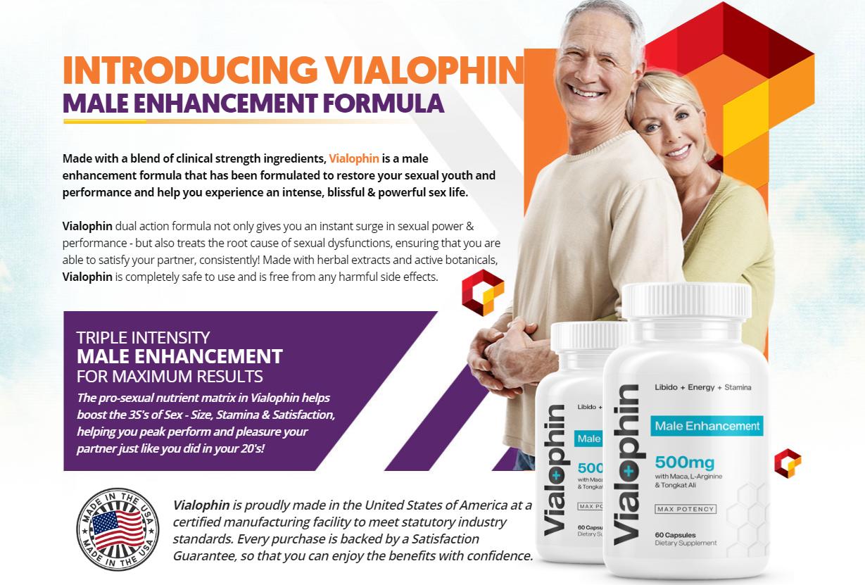 Vialophin Male Enhancement [Vialophin 500mg] Improved Libido Sex Drive