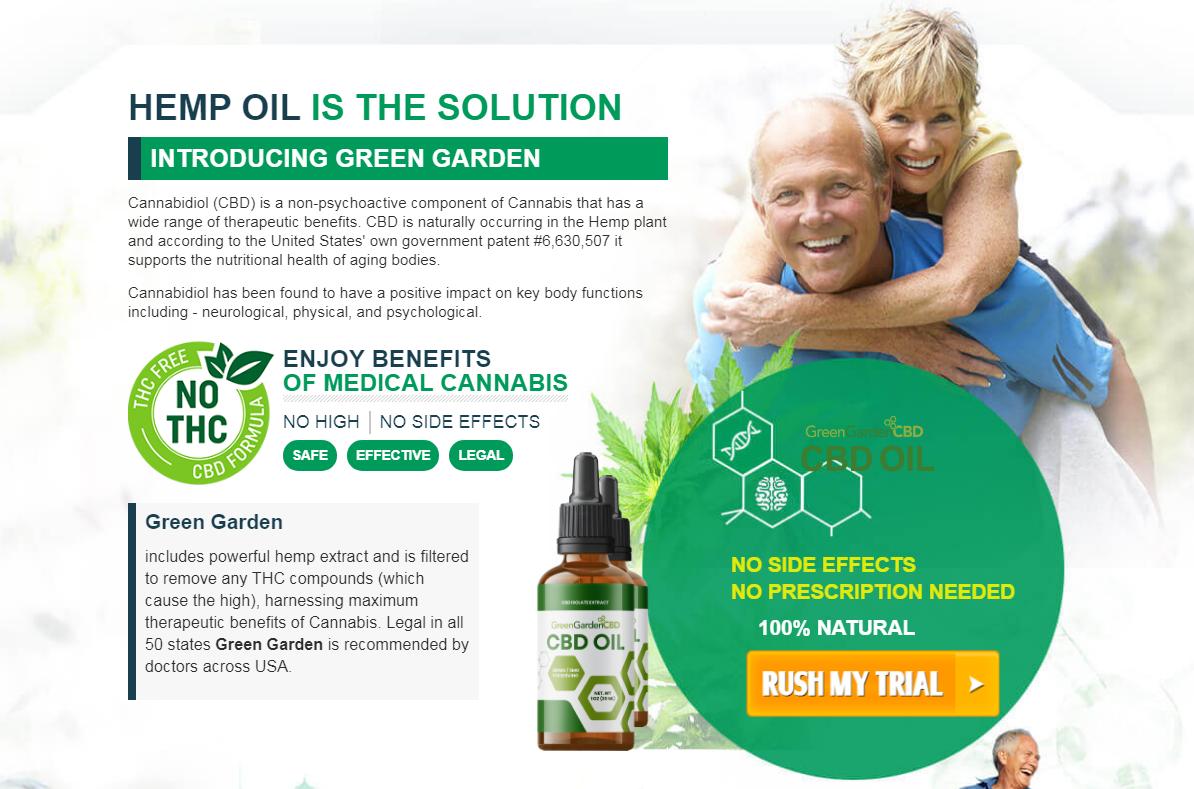 Green Garden CBD Oil® *UPDATE 2021* Price, Scam, Benefits, Reviews?