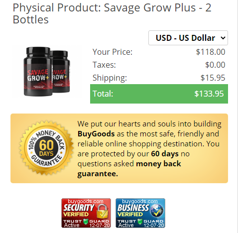 Savage Grow + ® {LATEST 2021} Price, Reviews, Ingredients, Scam?