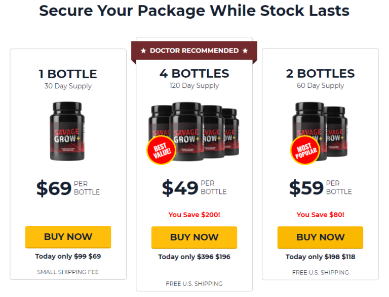 Savage Grow + ® {LATEST 2021} Price, Reviews, Ingredients, Scam?