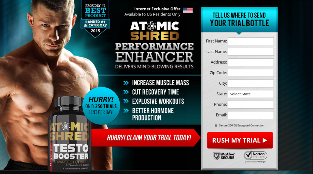 Atomic Shred Testosterone Booster *New 2021* Scam, Benefits, Reviews?