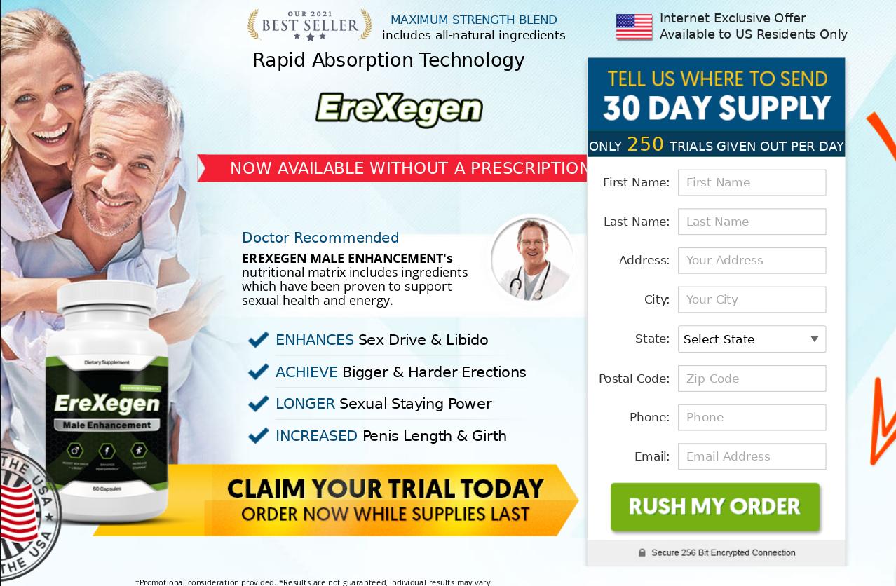 "Erexegen Male Enhancement"" 100% Legit Pills"" Does Its Really Works?"