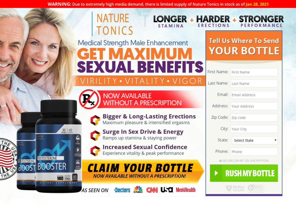 Nature Tonics Male Enhancement® *UPDATE 2021* Return Your Sex Life!