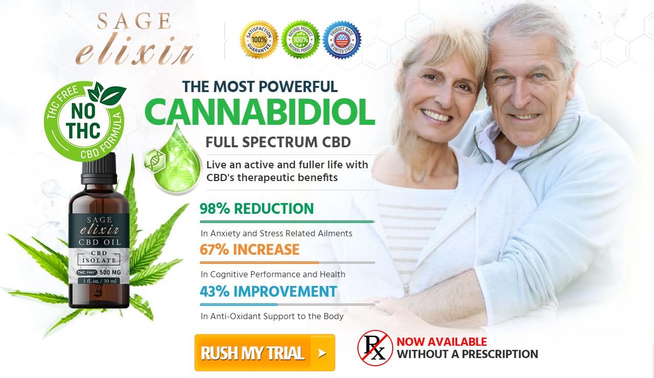 Sage Elixir CBD Oil - Relieves Chronic Pain - Reduce Anxiety & Stress