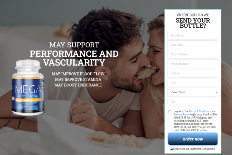 Mega Arise Max Male Enhancement – How Does Working & Use – Review?