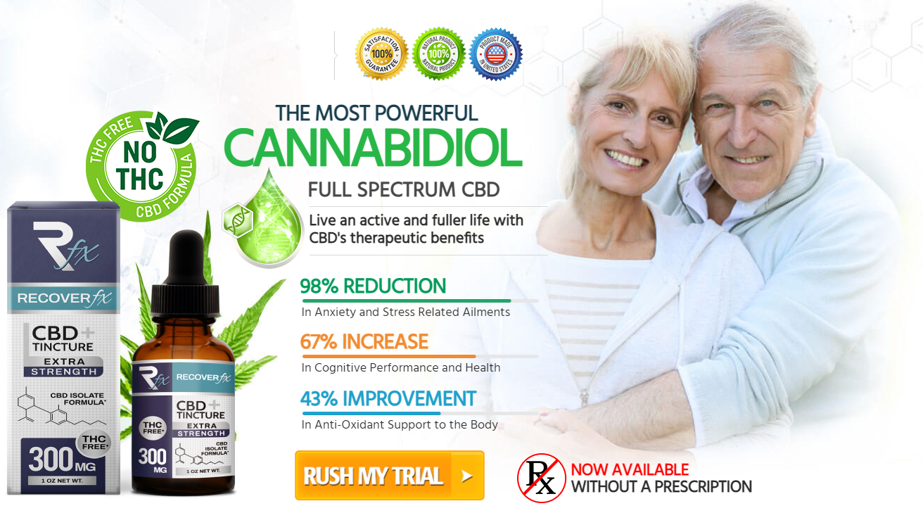 RecoverFX CBD Oil - Safe, Non-Habit Forming, Effective and 100% Legal!