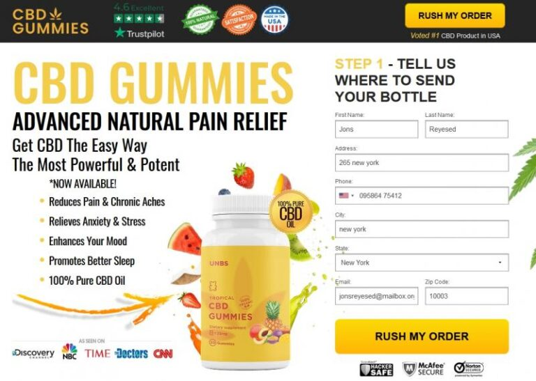 Unbs CBD Gummies | Shark Tank Gummies | Price, Scam, Reviews?