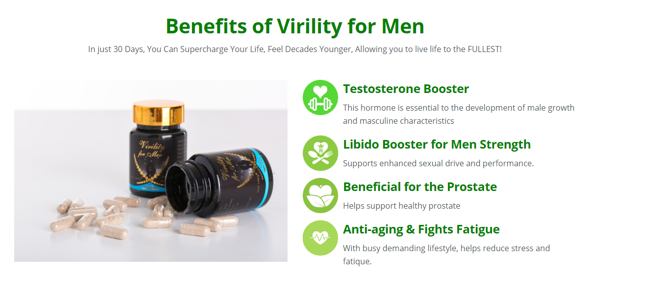 Virility for Men Reviews - Benefits, Scam, Ingredients, Uses?
