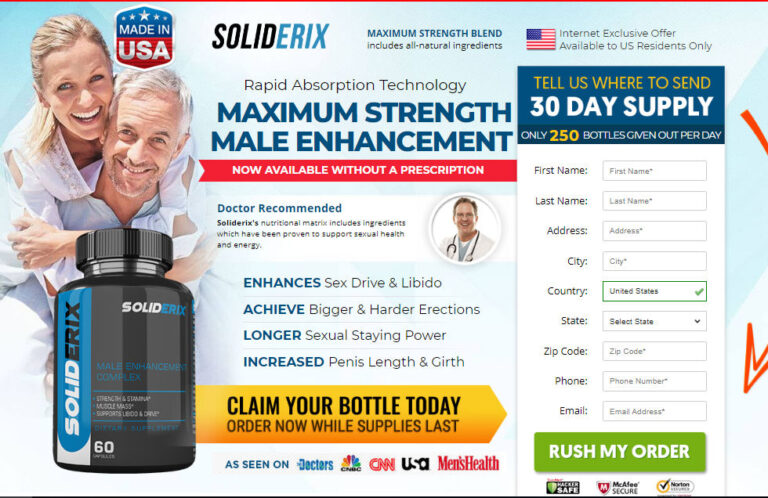 Soliderix Male Enhancement (Modify 2021) Its Really Works?